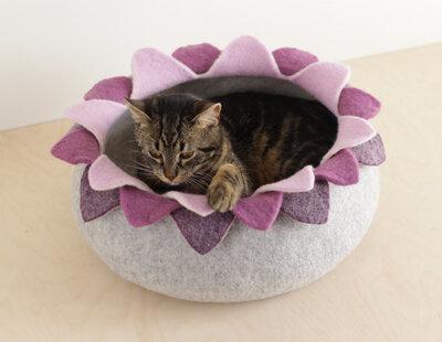 Vilten kattenmand Lotus - Paars