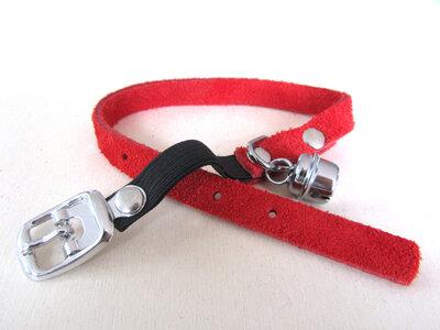 Halsbandje Suede Rood